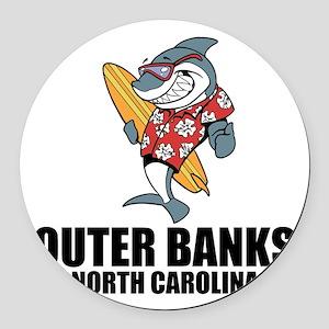 Outer Banks, North Carolina Round Car Magnet