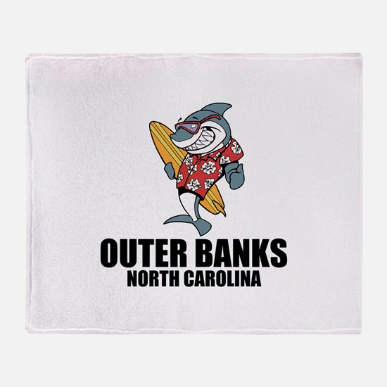 Outer Banks, North Carolina Throw Blanket