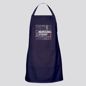 Nursing Student Text Apron (dark)