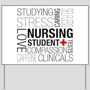 Nursing Student Box Yard Sign