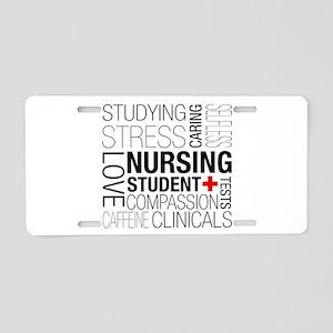 Nursing Student Box Aluminum License Plate