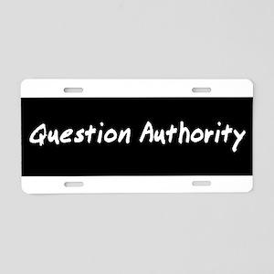 authorityWhiteBST Aluminum License Plate