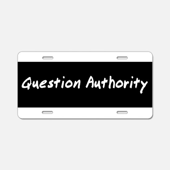 authorityWhiteBST.png Aluminum License Plate