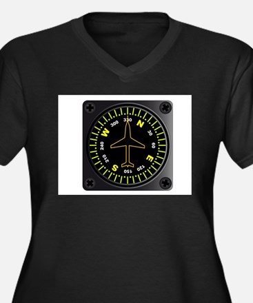 Aircraft Compass Plus Size T-Shirt