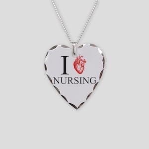 I Heart Nursing Necklace Heart Charm