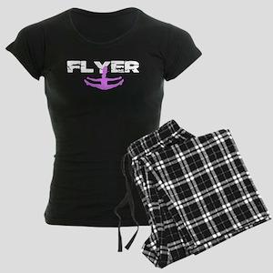Pink Cheerleader Flyer Women's Dark Pajamas