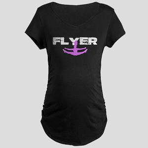 Pink Cheerleader Flyer Maternity T-Shirt