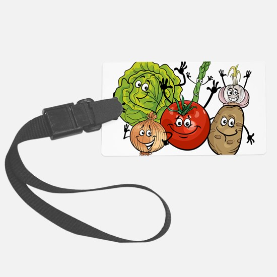 Funny cartoon vegetables Luggage Tag