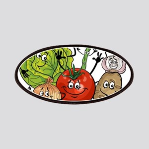 Funny cartoon vegetables Patch