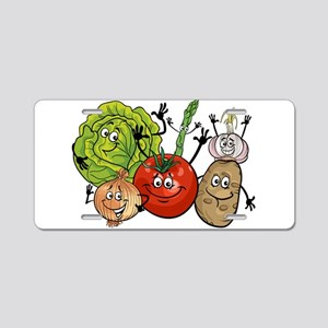Funny cartoon vegetables Aluminum License Plate