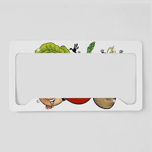 Funny cartoon vegetables License Plate Holder