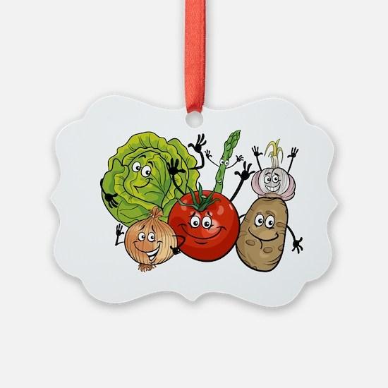Funny cartoon vegetables Ornament