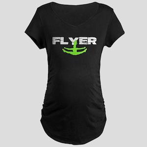 Green Cheerleader Flyer Maternity T-Shirt