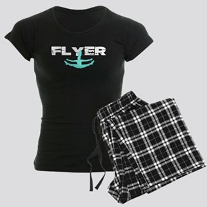 Blue Cheerleader Flyer Women's Dark Pajamas