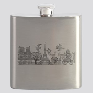 Paris city symbol Flask