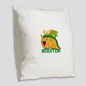 BABY DINOSAUR PERSONALIZE Burlap Throw Pillow
