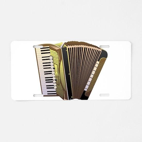 Musical instrument Accordio Aluminum License Plate