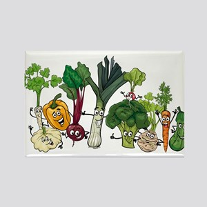 Funny cartoon vegetables Magnets