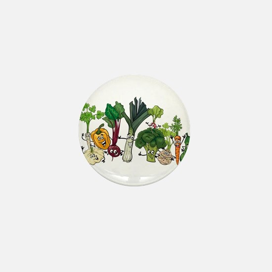 Funny cartoon vegetables Mini Button