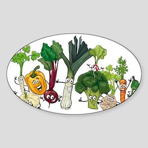 Funny cartoon vegetables Sticker