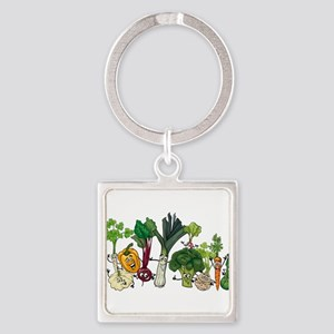 Funny cartoon vegetables Keychains
