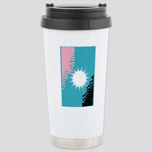 Pink and Blue Backgroun Stainless Steel Travel Mug
