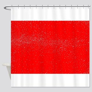 Red Fleck Shower Curtain