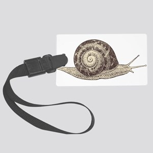 Hand painted animal snail Large Luggage Tag