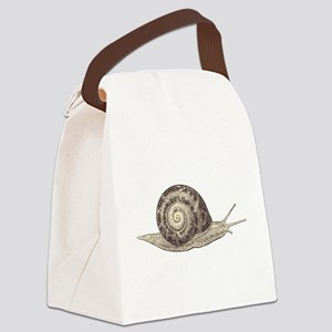 Hand painted animal snail Canvas Lunch Bag
