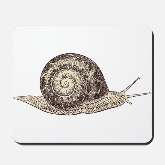 Hand painted animal snail Mousepad