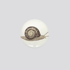 Hand painted animal snail Mini Button