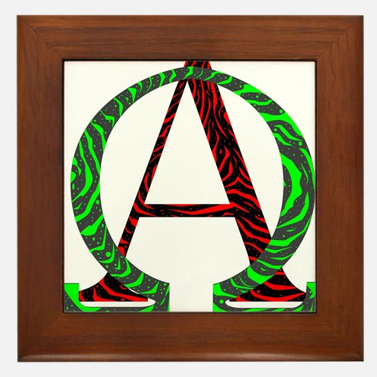 From A to Z Framed Tile