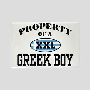 Property of a Greek Boy Rectangle Magnet
