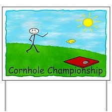 Cornhole Championship Yard Sign