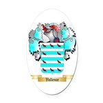 Vallence Oval Car Magnet