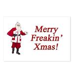 Merry Freakin' Xmas Postcards (Package of 8)