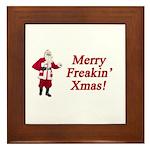 Merry Freakin' Xmas Framed Tile
