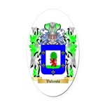 Valiente Oval Car Magnet