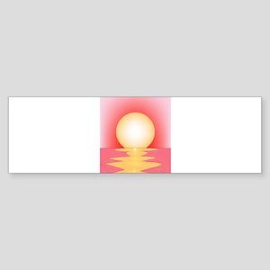 Pink SUnset Bumper Sticker