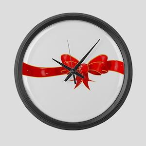 Ribbon and Bow Large Wall Clock