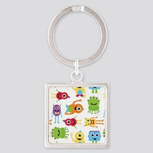 Little Monster Pattern Square Keychain