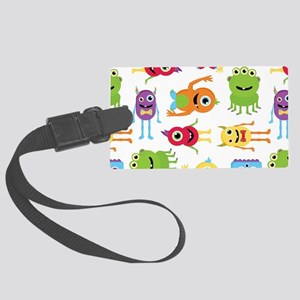 Little Monster Pattern Large Luggage Tag