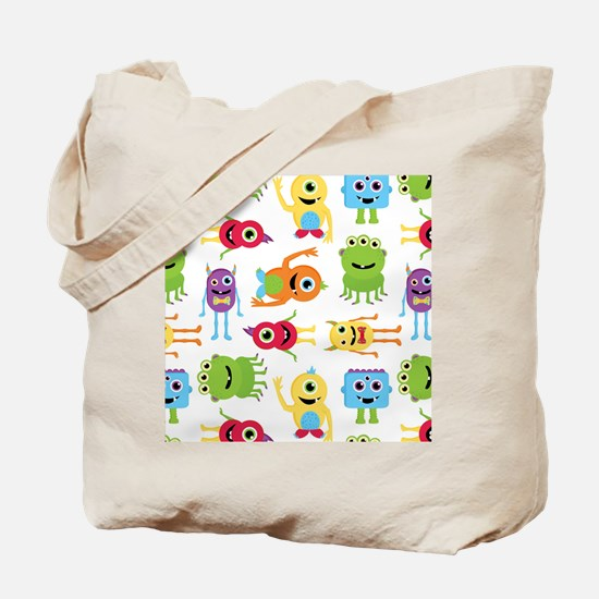 Little Monster Pattern Tote Bag
