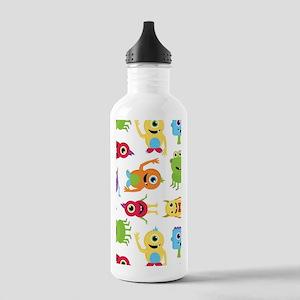 Little Monster Pattern Stainless Water Bottle 1.0L