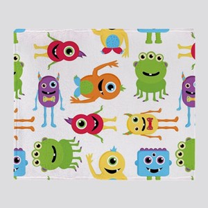 Little Monster Pattern Throw Blanket