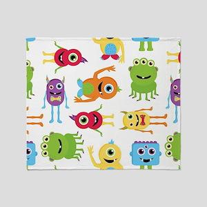 Little Monster Pattern Throw Blanket