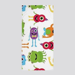 Little Monster Pattern Beach Towel