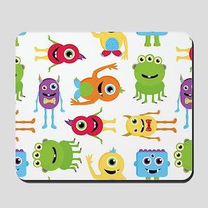 Little Monster Pattern Mousepad