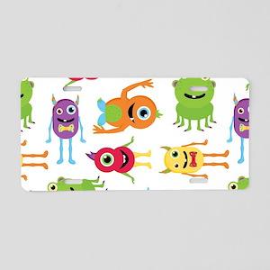 Little Monster Pattern Aluminum License Plate