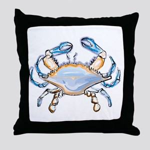 Colorful crab art Throw Pillow